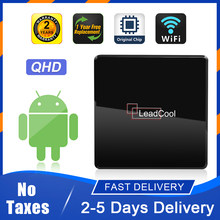 Qhd android 9.0 caixa de tevê inteligente leadcoolx 1g 8g s905w quad core 4k fhd h.265 2.4ghz wifi 100m leadcoolx qhd caixa de tevê android