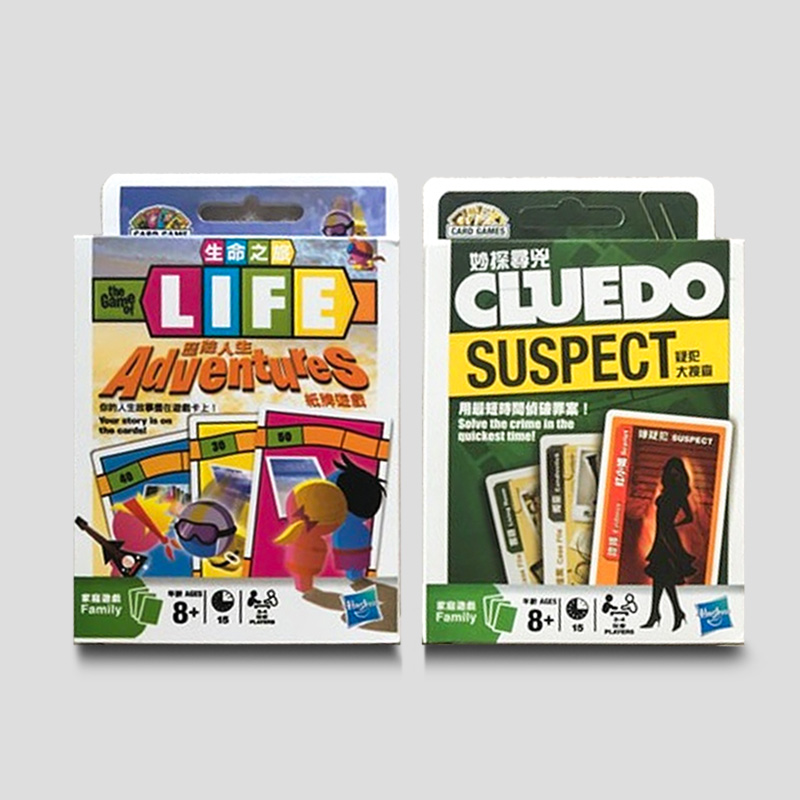 Hasbro Strategy Card Board Game LIFE ADVENTURES Cluedo Suspect Poker Family Entertainment Adult Party Play Games