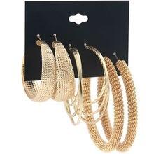 Женские корейские преувеличенные золотые и серебряные серьги