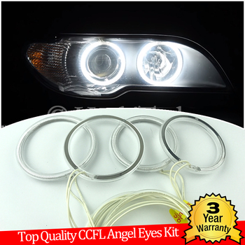 Hight Quality CCFL Angel Eyes Kit Warm White Halo Ring For BMW E46 325ci 330ci Convertible Coupe 2004-2006 LCI xenon Demon Eye image