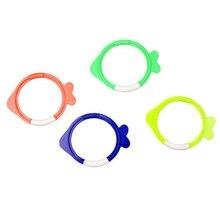Детский бассейн, детская игрушка для дайвинга для мальчиков, кольцо для погружения в воду, игрушка в форме рыбы, 4 в 1, набор, Летняя Аква-игра для улицы