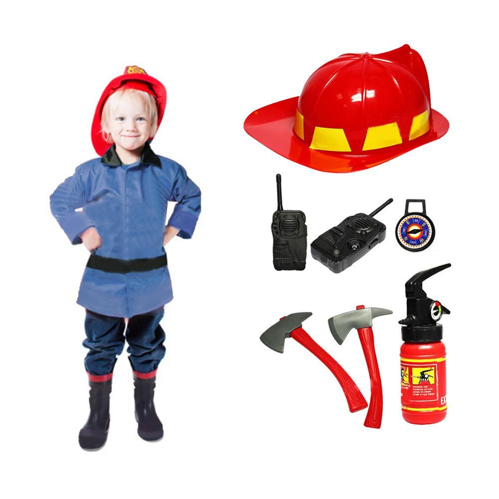 Children's Simulation Fire Caps Fireman Toys Pretend Play Role Cosplay Firefighters Early Education Sam Fireman Toys