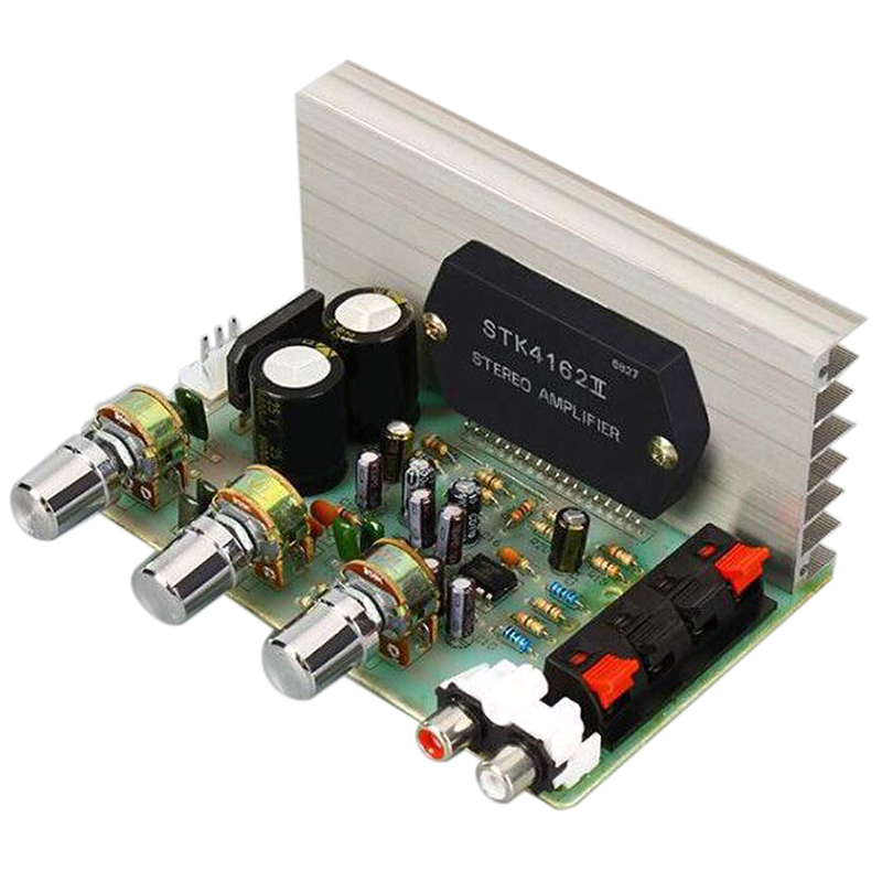 Dx-0408 18V 50W+50W 2.0 Channel Stk Thick Film Series Power Amplifier Board For Getting Started, Bookshelf Computer Speakers DIY
