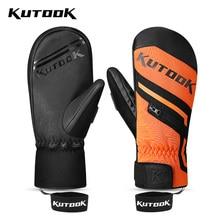 Snowboard Gloves Skiing-Mittens Winter KUTOOK Warm Waterproof Women