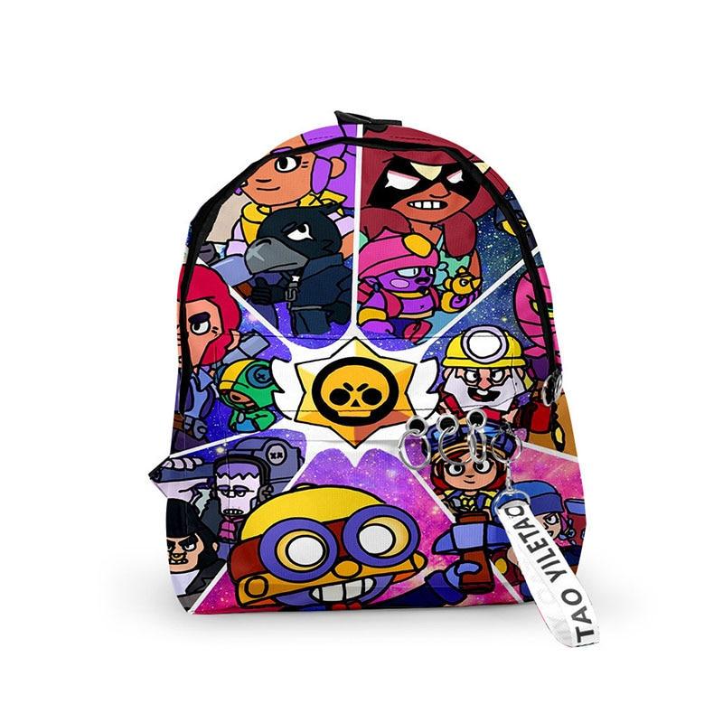 Brawl Game Cartoon Star Heroes School Bag Figure Model Spike Shelly Leon PRIMO MORTIS Toys Birthday Gifts For Boys Girls Kids