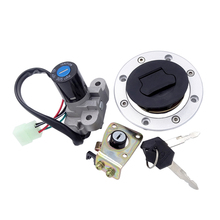 цена на Motorcycle Lgnition Switch Seat Lock Kit Fuel Gas Cap Tank Cover Key Lock for Suzuki GSXR1000 SV650 TL1000R GSF1200 GS500 RGV250