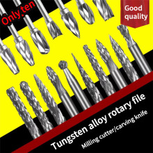 High quality carving tool set accessories tungsten steel barrel carving single and double patterns 10 certain characterizations of tungsten ditelluride single crystals