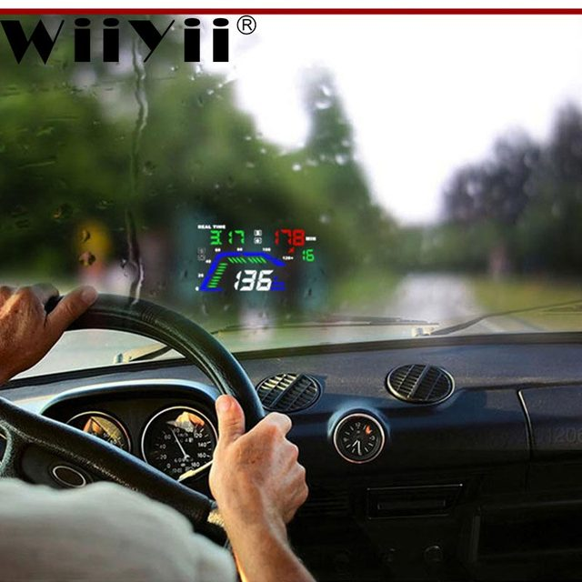 Wiiyii Q7 HUD OBD2 Head Up Display GPS speedometer mirror Car Motorcycle Driving Computer Auto Accessories