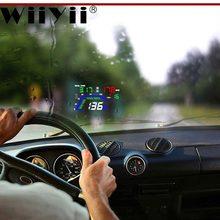 Wiiyii q7 hud obd2 head up display gps velocímetro espelho do carro da motocicleta condução computador acessórios de automóveis