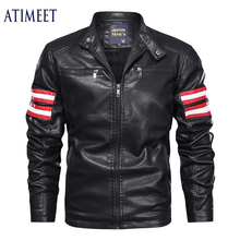 Mens Leather Jackets Autumn And Winter Motorcycle Male PU Coats Biker Faux Leather Men Fashion Outerwear mens leather jackets 2020 autumn winter new casual motorcycle pu faux leather jacket male biker leather coats windbreaker jacket