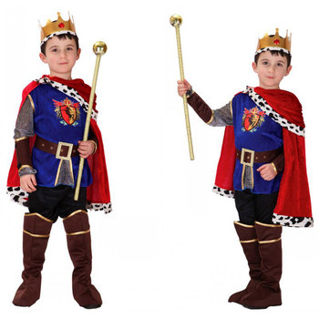 Umorden Boys Medieval Renaissance Prince King Costume Arthur Cosplay Kids Child Halloween Purim Party Mardi Gras Fancy Dress umorden toddler girls white spooky ghost costume elf fairy costumes for kids child halloween purim party mardi gras fancy dress