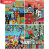 HUACAN DIY Pictures By Number House Kits Drawing On Canvas Painting By Numbers Scenery Hand Painted Paintings Home Decor