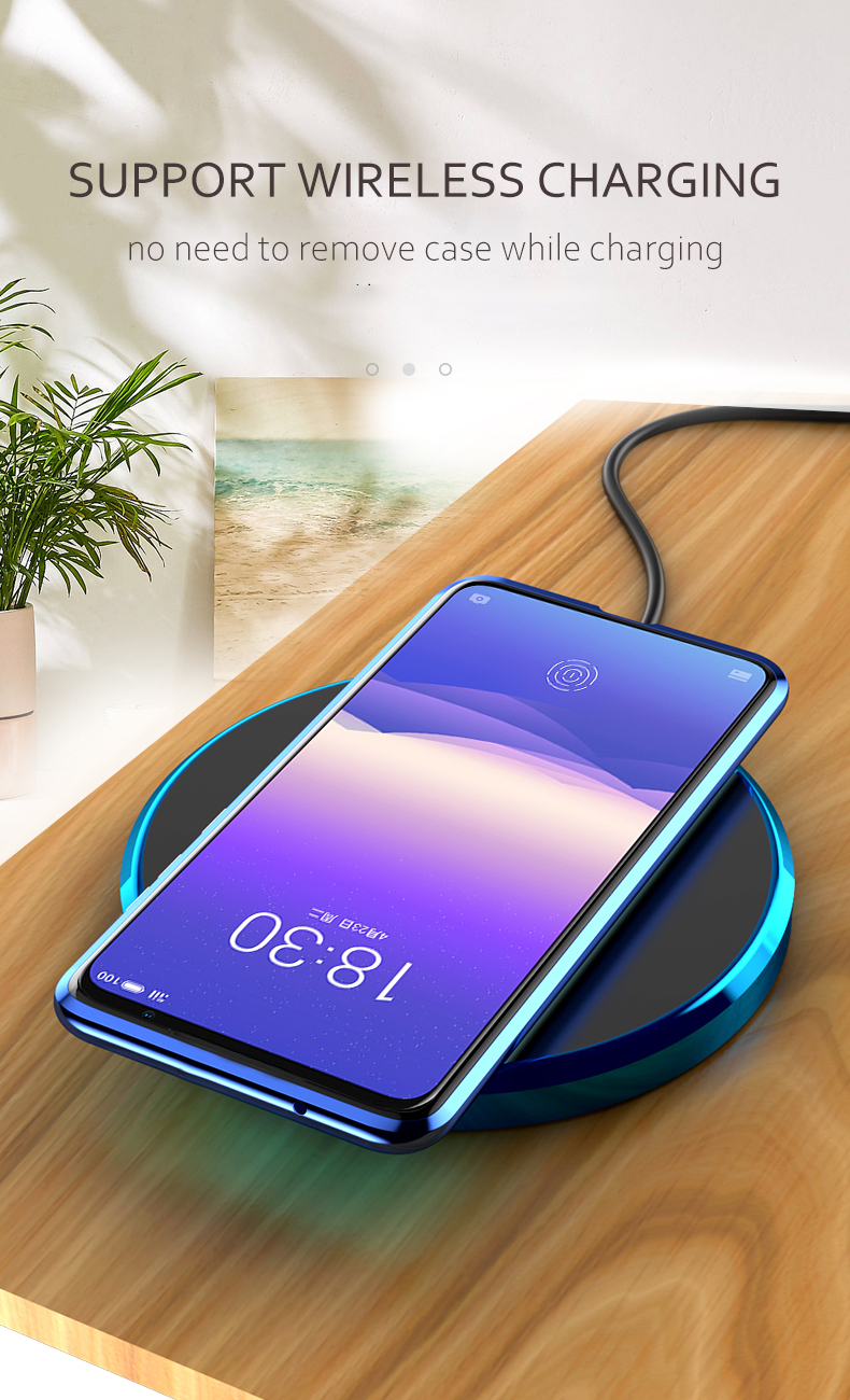 For  OPPO Find X2 Pro Magnetic Case 360 Front+Back double-sided 9H Tempered Glass Case for  OPPO Find X2 Metal Bumper Case