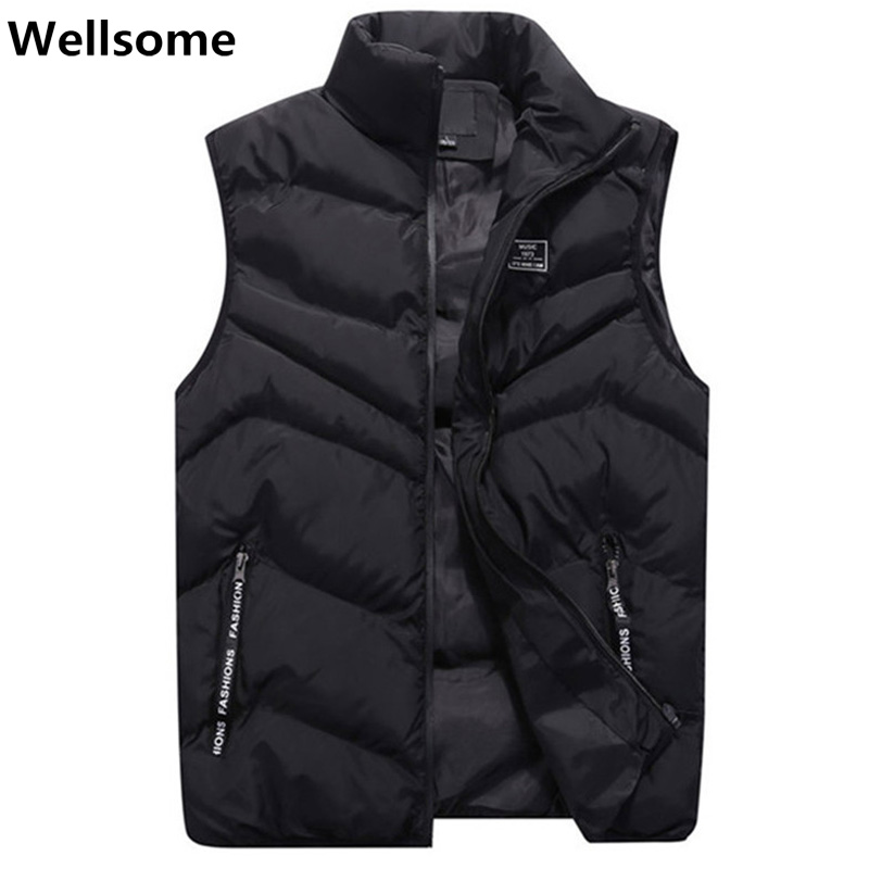 Plus Size Vest Men Stylish Autumn Winter Warm Sleeveless Jacket Waistcoat Slim Fit Mens Vest Casual Coats Men