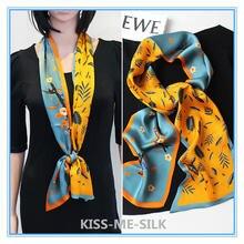 Kms Узкий Шелковый длинный полосатый маленький шарф модный квадратный