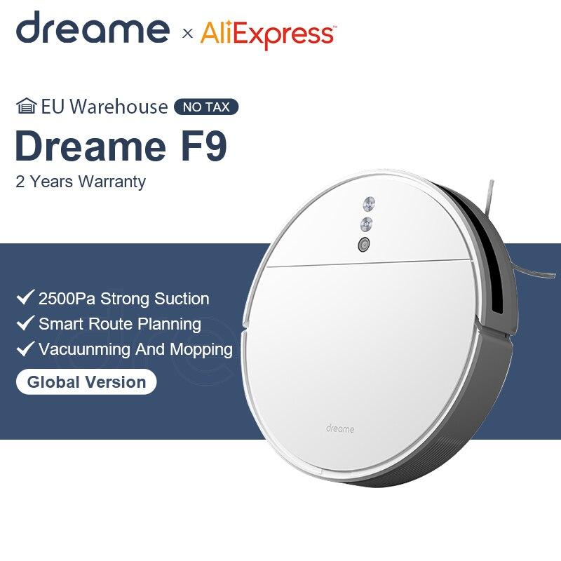 Dreame F9 – Aspirateur intelligent pour nettoyage programmé pour la maison,machine dépoussiéreur de serpillière à charge automatique, 2500 Pa, |