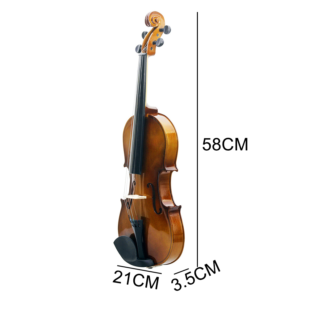 Купить с кэшбэком Violin 4/4 Full Size Violin Vintage with Violin Case Rosin Bow Strings Student Beginner Learning Tool With Tough Plastic Panel
