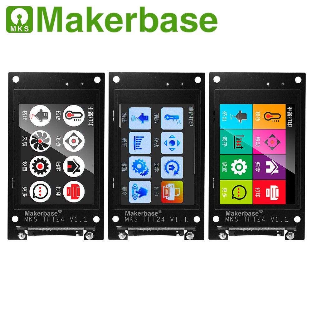 3d printer LCD unit MKS TFT24 touch screen RepRap controller panel TFT 24 full color display SainSmart splash screen monitor 2