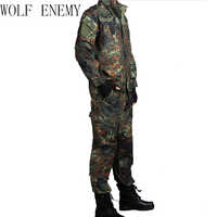 DEUTSCH ARMEE WOODLAND CAMO Anzug ACU BDU Military Camouflage Anzug sets CS Kampf Taktische Paintball Uniform Jacke & Hosen