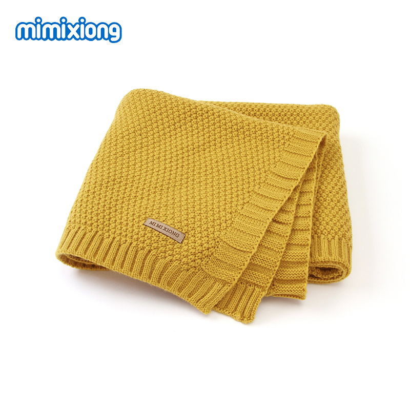Baby Blanket Knitted Newborn Blankets Super Soft Infant Bebes Swaddle Wrap Stuff For Stroller 100*80cm Toddler Children's Quilts