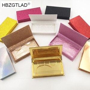 Image 1 - 40 stücke großhandel falsche wimpern verpackung box individuelles logo gefälschte 3d nerz wimpern boxen faux cils streifen diamant magnetische fall leere