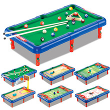 6 In 1 Set Desk Parent Child Toy Party Play the Family Indoor Ball Game Billiards Golf Basketball Football Ice Hockey Bowling 6