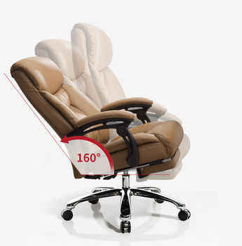 Reclining boss chair business swivel chair executive chair home computer chair office chair comfortable backrest leather computer chair home boss chair leather business reclining massage executive chair solid wood swivel chair lift office seat