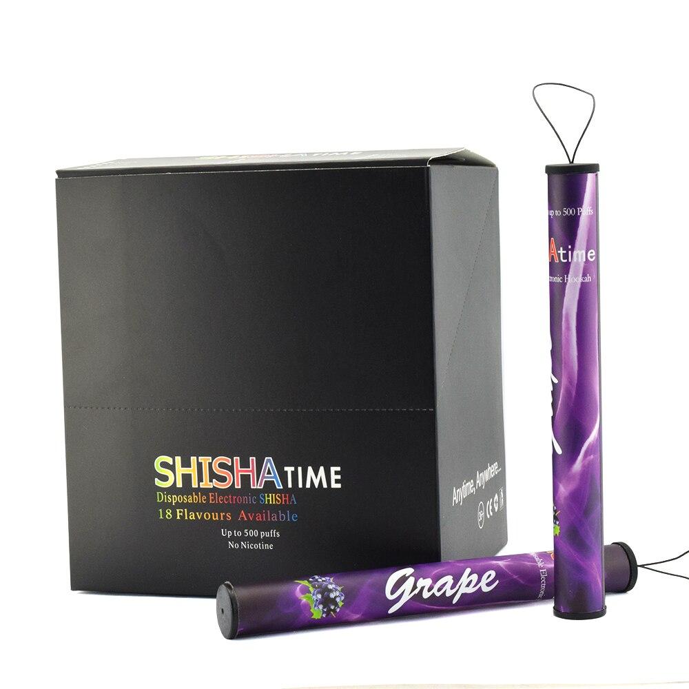 20pcs More Lot Shisha Time Stick Pen Portable Multiple One Time E Cigarette Shisha 500 Puffs Hookah Vaporizer Pod Vape Pen