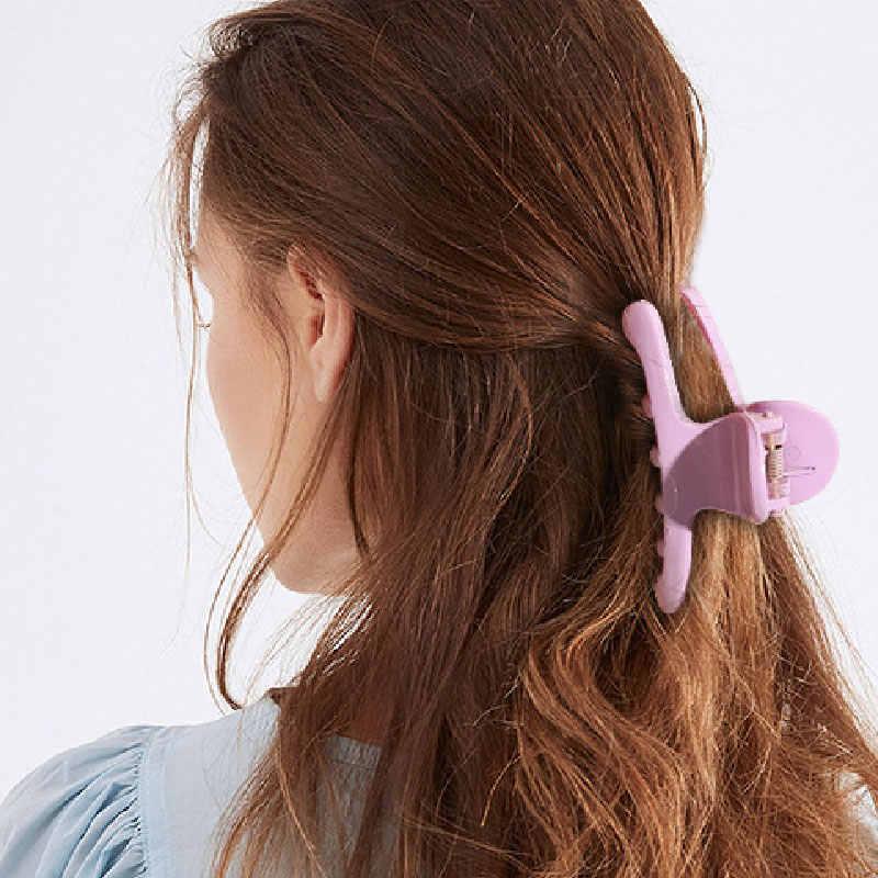 2020 Mới Vuốt Tóc Cho Nữ Hàn Quốc Thời Trang Tóc Nhựa Kẹp Móng Vuốt Kẹp Kẹo Ngọt Màu Sắc Mũ Bé Gái Phụ Kiện Tóc
