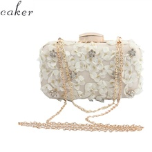 Caker Brand 2019 Women Beaded Lace Acrylic 3D Flower Chain Crossbody Shoulder Bags Wholesale