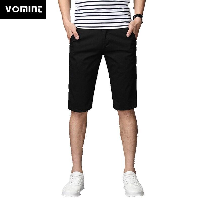 Vomint 2020 Summer New Men's Basic Shorts Smart Casual Fashion Pockets Solid Color Black Blue Khaki Large Size 40 42 44 46