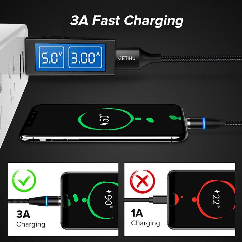 INIU Магнитный кабель 3A Micro USB C quick charge 3,0 для iPhone 11 X samsung Быстрая зарядка Магнит usb type C зарядное устройство для мобильного телефона