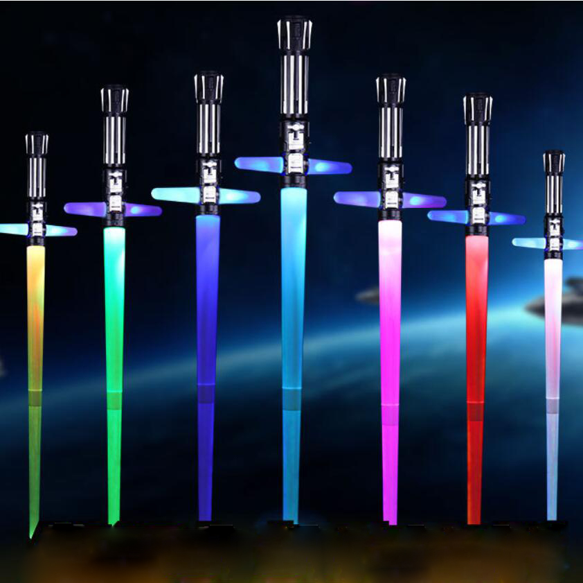 Star Wars Saber Lightsaber Cross Darth Vader Light Saber Sword Replica Toys With Sound Electronic Flashing Kids Toy Rey Luke