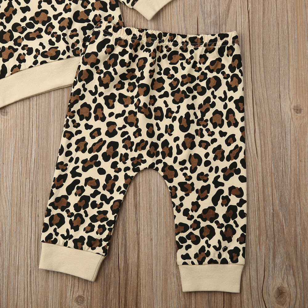 Pudcoco Stylish Newborn Baby Girl Boy Leopard Sleeveless or Long Sleeve Romper Top Clothes For 0-24Months