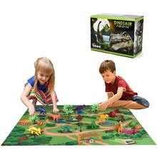 Children'S Dinosaur Toy Simulation Animal Large Tyrannosaurus Plastic Model Dinosaur World Game Carpet Scene plesiosaur model plastic doll simulation dinosaur hand model toy