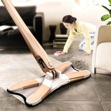 X-type microfiber floor mop with 3pc mop cloth replace hand-free wash flat mop manual extrusion mop spin household cleaning tool недорого