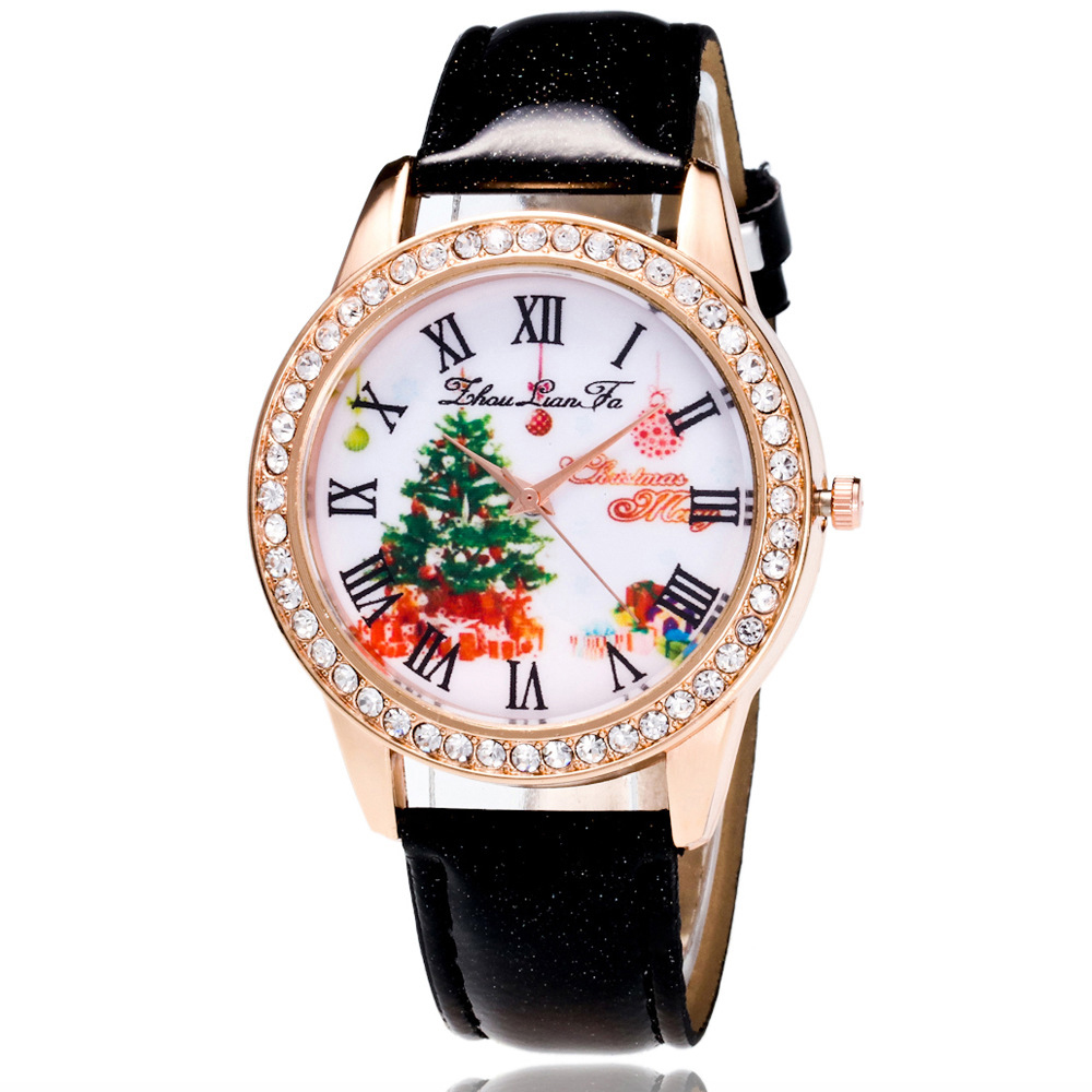 часы Popular High-end Life Waterproof Children's Watch Crystal Leather Colorful Christmas Watch Relogio