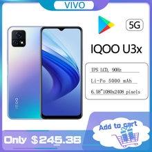 Original novo iqoo u3x 5g telefone snapdragon 480 5000mah 18w rosto id 90hz 6.58 polegadas 8.0mp + 13.0mp android 11celular celular celular celular