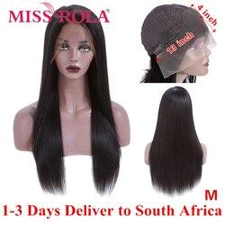 Verpassen Rola Haar 13*4 Spitze Front Menschliches Haar Perücken 150% Dichte Gerade Brasilianische Nicht-Remy Haar Mitte verhältnis Perücken für Schwarze Frauen