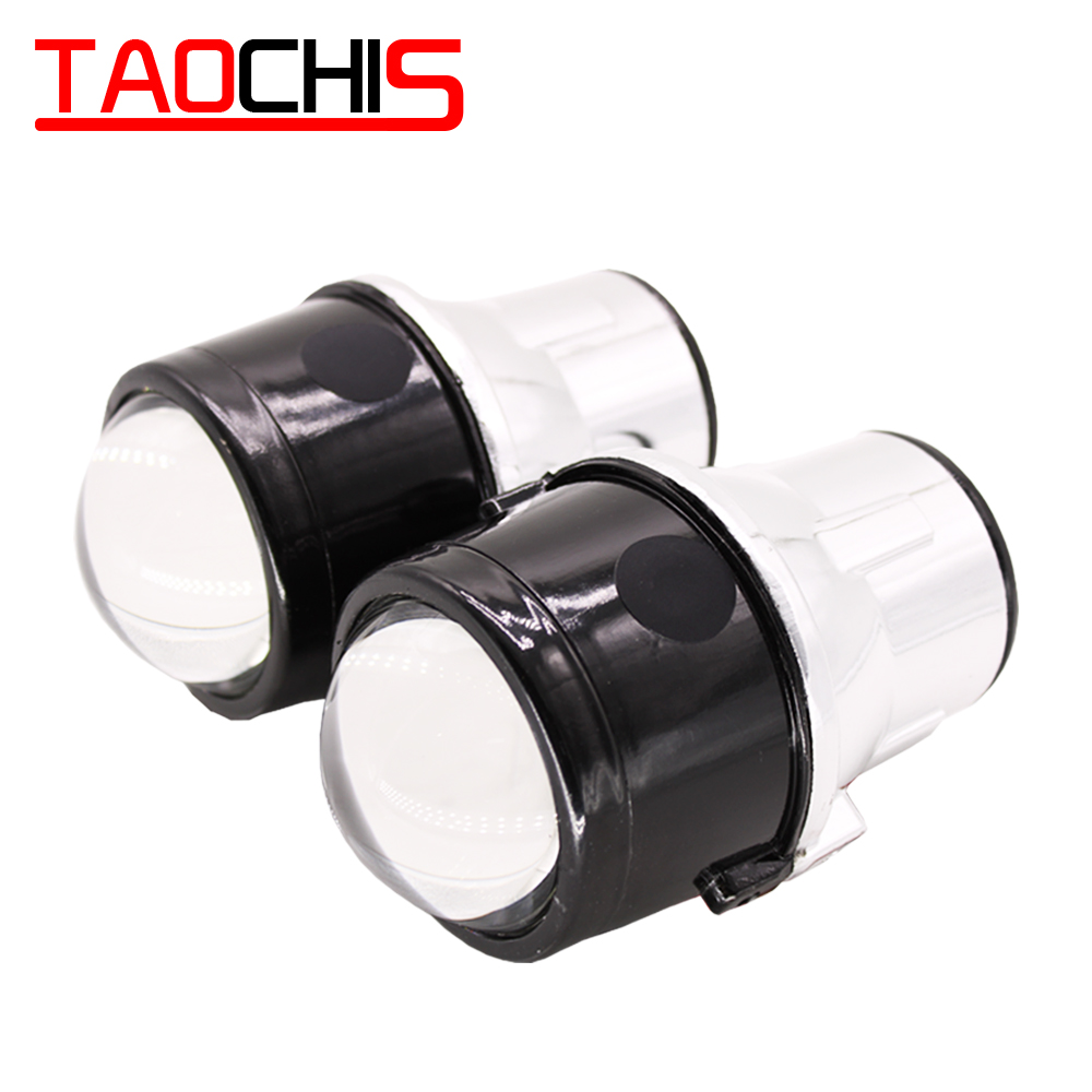 TAOCHIS M6 2.5 Inch Bi-Xenon HID Auto Car-Styling Fog Light Projector Lens Hi/Lo Universal Fog Lamp Car Retrofit H11 Bulbs