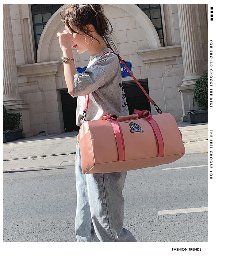 Leisure Travel Bags, Travel Sports Bags, Simple Pure Color Bags
