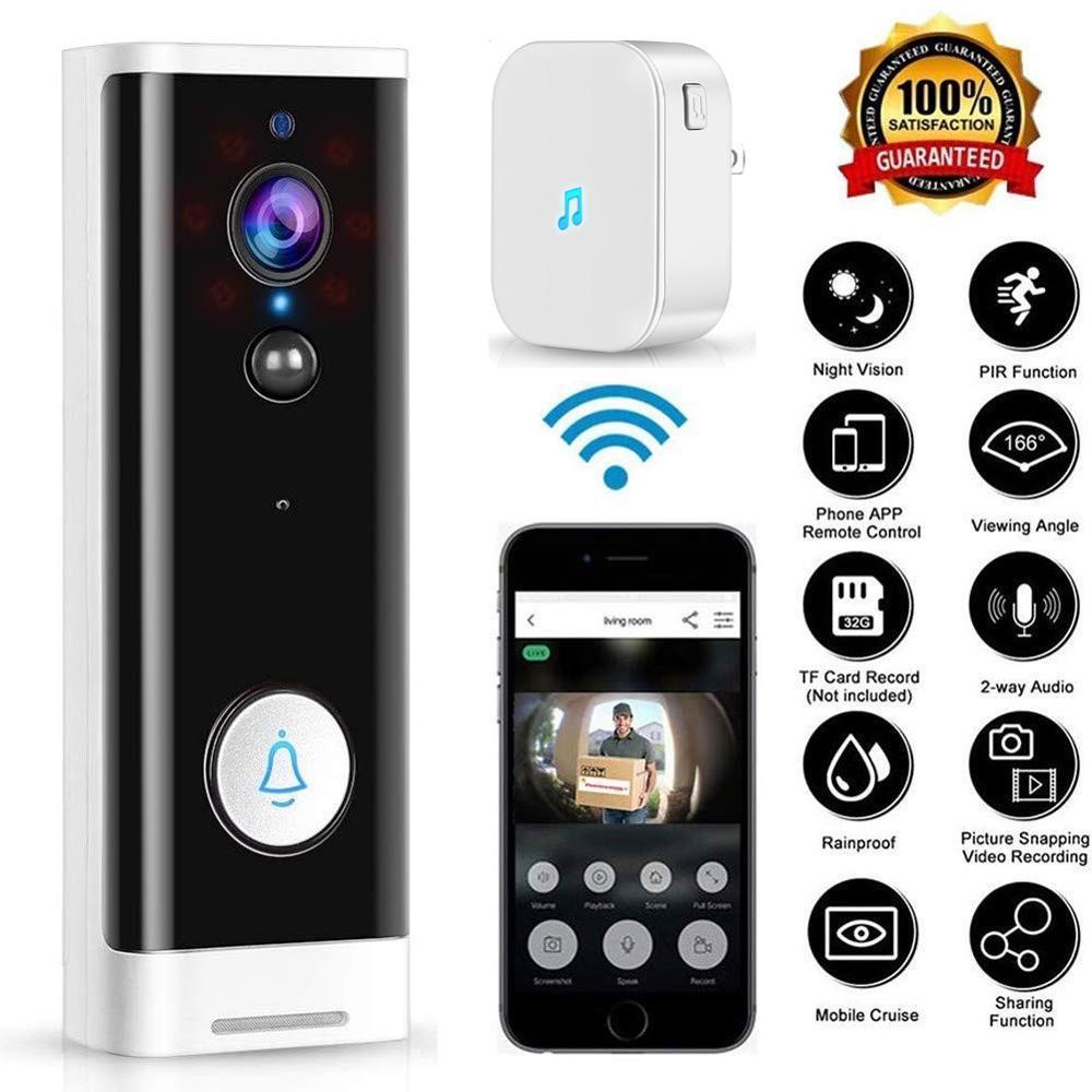 Onvian Video Doorbell Camera 1080P HD WiFi Door Bell Camera Smart Camera Doorbell For Apartment Night Vision APP Control