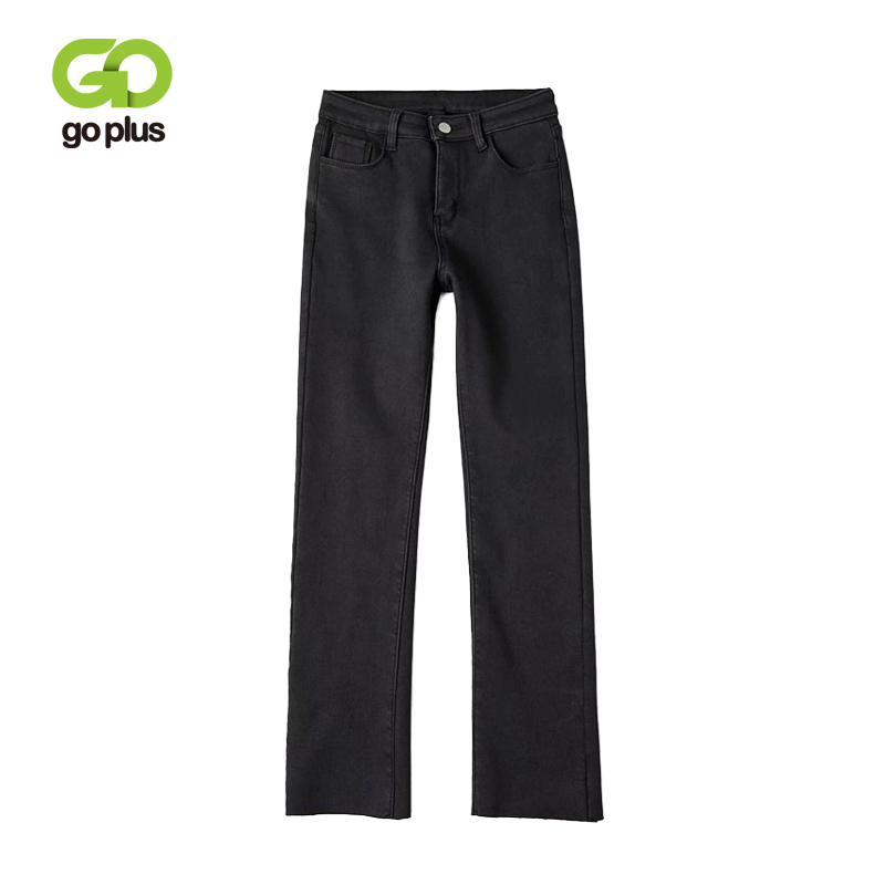 GOPLUS Winter Warm Jeans For Woman High Waist Straight Pants Plus Size Fleece Jeans Denim Women's Trousers Female Jeans C6678