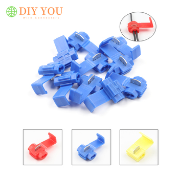 цена на 30/50/100PCS Electrical Wire Cable Connector Quick Splice Insulated  Crimp Terminals Red 22-18AWG/Blue 18-14AWG/Yellow 12-10AWG