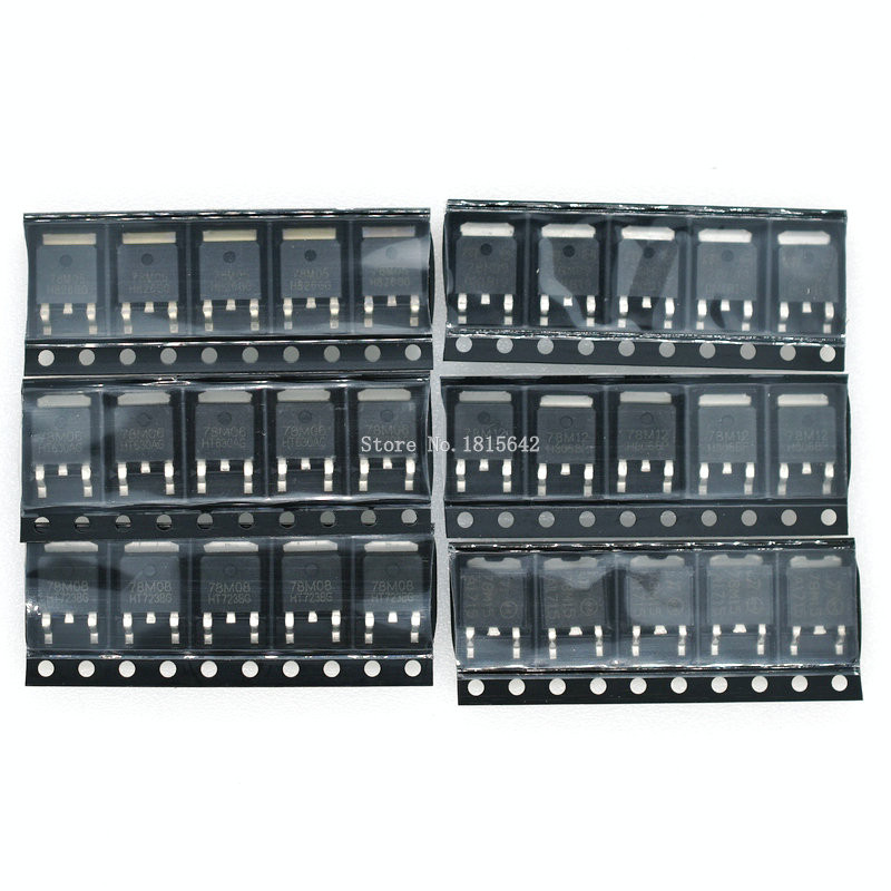 30pcs = 6 Kinds *5pcs TO-252 Transistor Kit 78M05 78M06 78M08 78M09 78M12 78M15 Each 5pcs