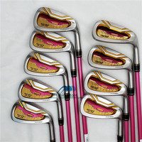 New  Golf Clubs HONMA S-06 Women Golf irons set 5-11 Aw Sw (9pcs) irons Clubs Set  Steel or Graphite Golf shaft  Free shipping
