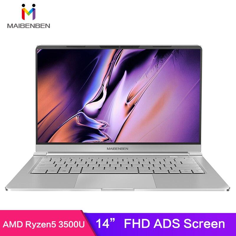 MAIBENBEN XiaoMai S436 Laptop 14 Inch Narrow Bezel FHD Screen 1.13kg AMD Ryze 5 3500U 8GB RAM 256G PCI-E SSD DOS