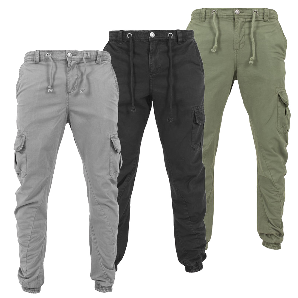 Goocheer New Fashion Mens Skinny Cargo Combat Pants Slim Fit Sports Jogging Work Casual Long Trousers M-3XL