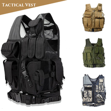 цена на Army Tactical Equipment Military Molle Vest Hunting Armor Vest Airsoft Paintball Combat Protective Vest