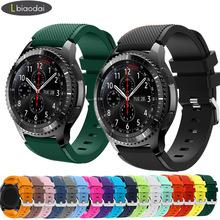 20mm 22mm pasek zegarka do Samsung Galaxy zegarek 3 45mm 42mm aktywny-2 biegów S3 Frontier krzemu bransoletka Huawei GT 2 2e pasek 46 mm cheap Lbiaodai CN (pochodzenie) Inne Od zegarków Silikon Nowy bez tagów 20 22MM for galaxy watch active2 44mm 40mm 41 42 44 45 46mm
